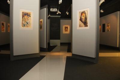 Музей Анатолия Зверева - укладка глянцевого напольного покрытия